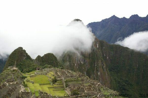 Machu Picchu Peru in den Wolken Peru Reiseblog