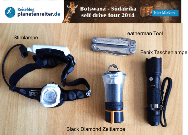 Botswana Safari Packliste