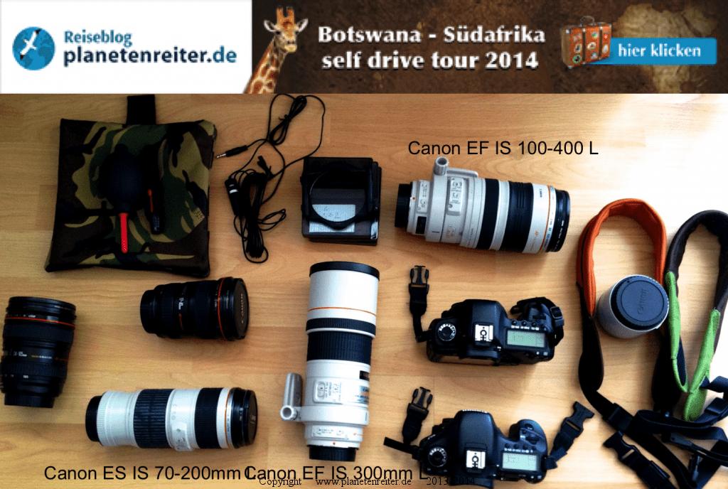 Botswana Safari Kamera und Objektive