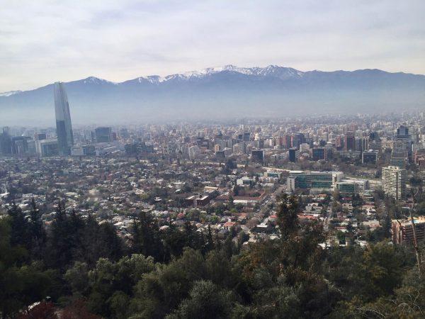 Panorama Cerro San Cristobal Santiago de Chile