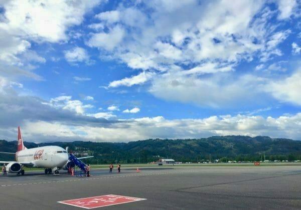 Cajamarca Flughafen in Perus Norden
