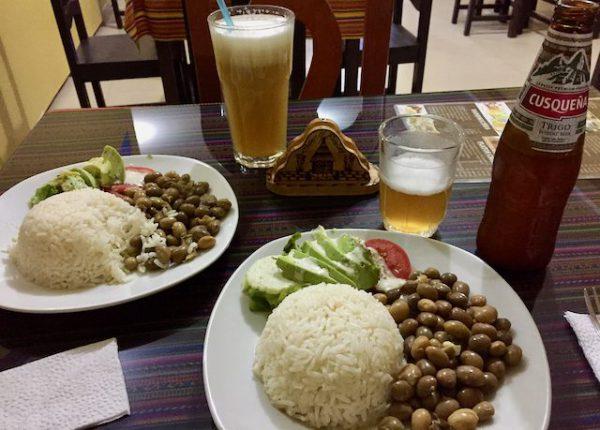 Klassisches Essen in Südamerika.