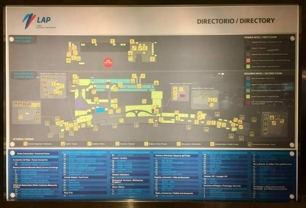 Flughafen Lima Übersichtsplan