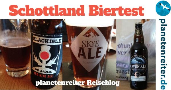 Schottland Roadtrip Bier