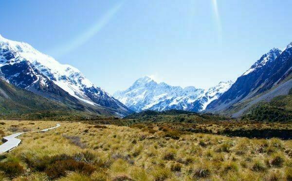 Aoraki Mount Cook Nationalpark, Neuseeland, Südinsel.