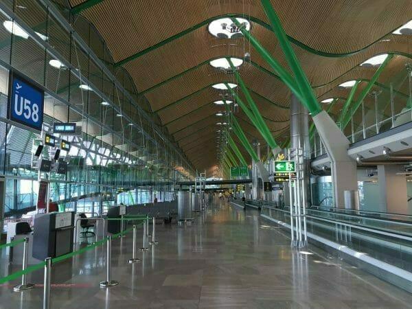 Umsteigen in Madrid Barajas