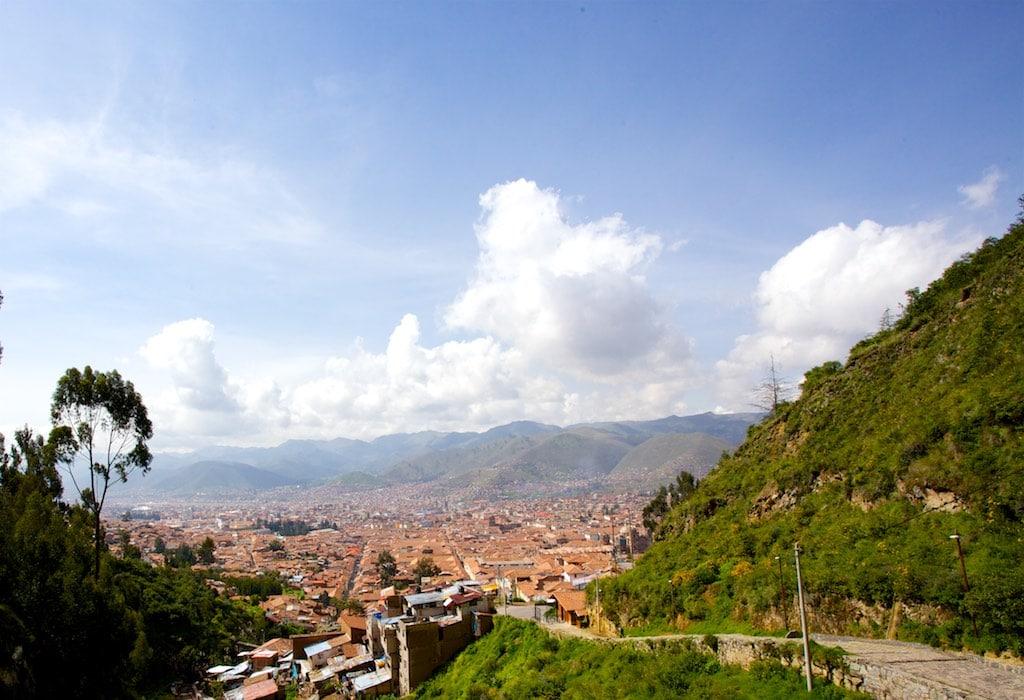 Blick auf Cusco, kurz vor Sacsaywayman