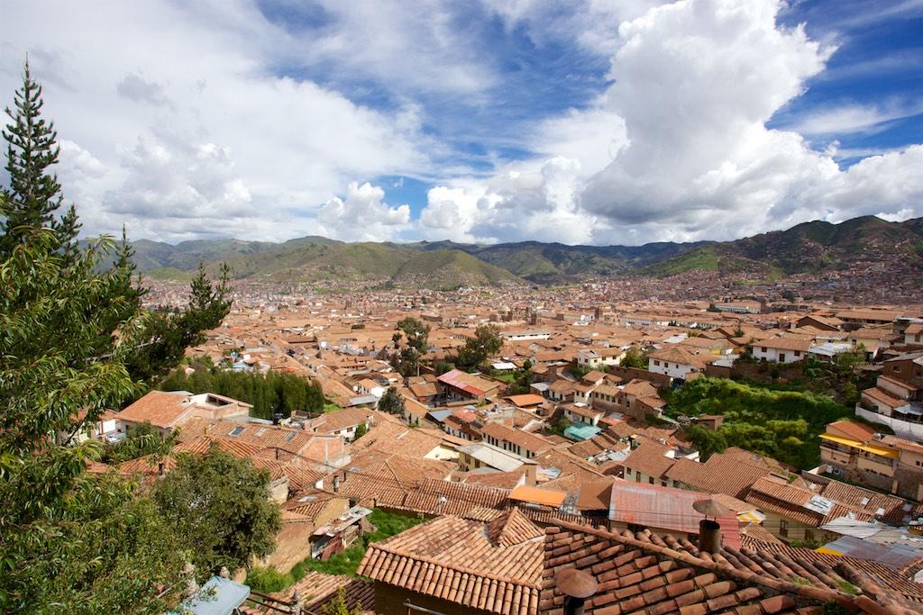 Blick auf Cusco aus dem Stadtviertel San Blas