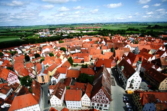 Nördlingen, Altstadt, Blick vom Kirchturm