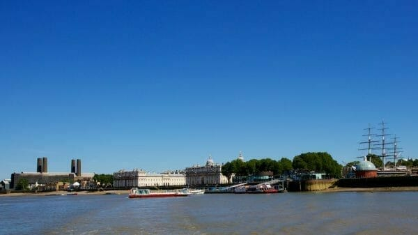 View to Greenwich from river Thamse