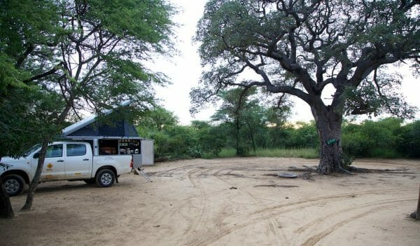 Camp site Khama Rhino Sanctuary Botswana
