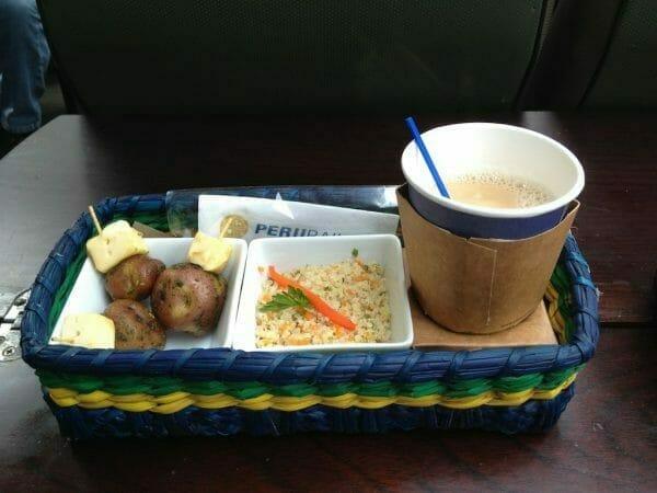PeruRail Machu Picchu Food