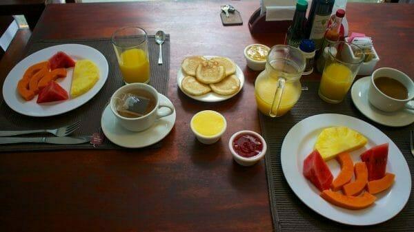 Frühstückstisch in Costa Rica