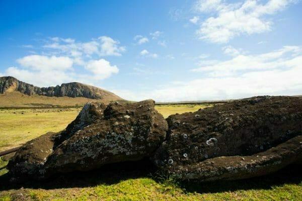 Reiseblog Osterinsel Rapa Nui - liegender Moai