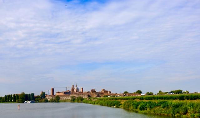 Panorama von Mantua. Italien Roadtrip