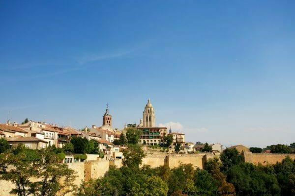 Roadtrip Spanien Segovia: Panorama Altstadt